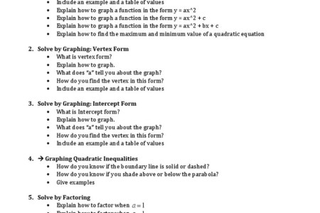 Free Resume Sample Find Vertex From Standard Form Resume Sample