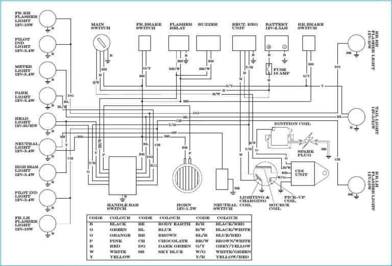 Yamaha RX135 Wiring Diagram