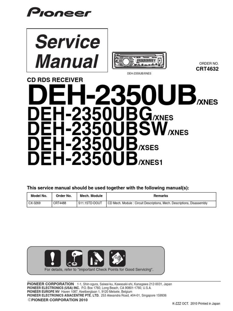 Attractive Pioneer Deh P6600 Wiring Diagram Motif - Electrical ...