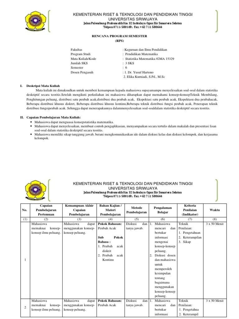 05/01/2021· 27+ contoh soal statistika kuliah semester 1. Contoh Soal Statistik 1 Kuliah