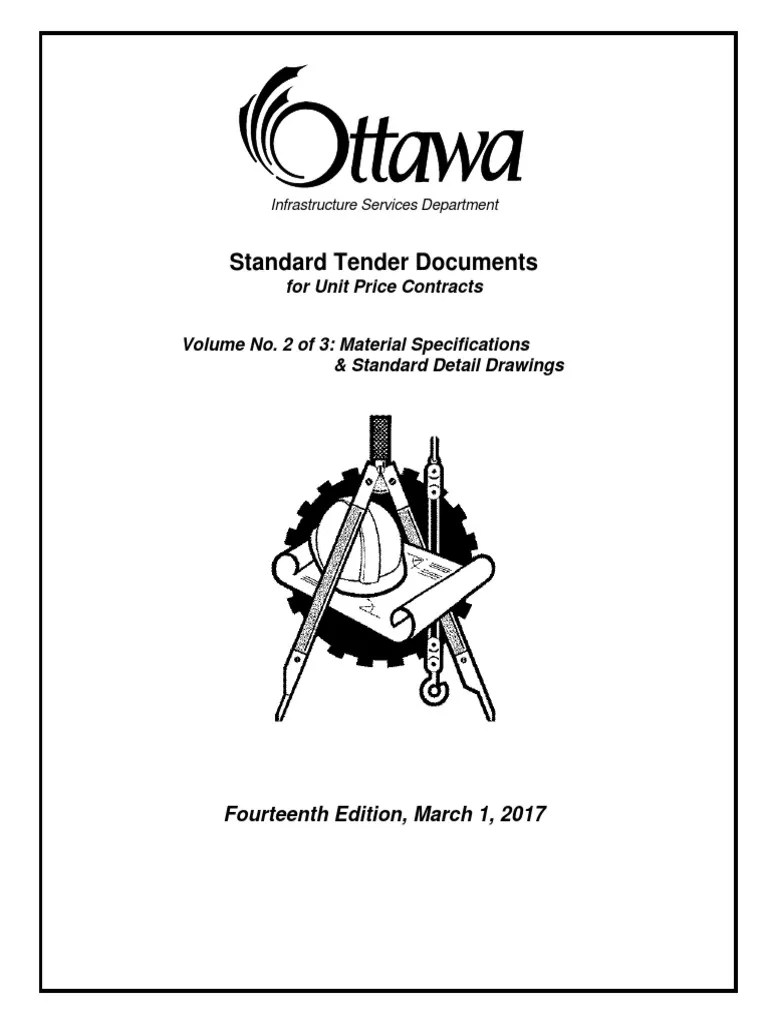 2017standard tender documents for unit price contracts vol2 pipe fluid conveyance specification technical standard