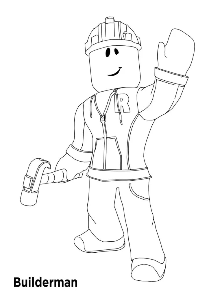 Amazing Noob From Roblox Coloring Pages By ...