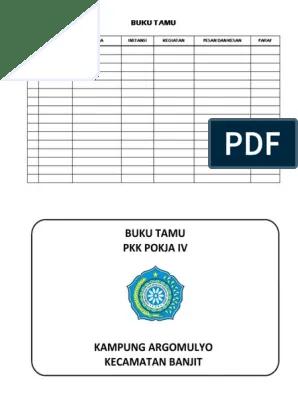 Buku inventaris dugunakan untuk mencatat barang yang dimiliki oleh tp pkk download disini. Contoh Buku Kegiatan Pkk - Pokja PKK
