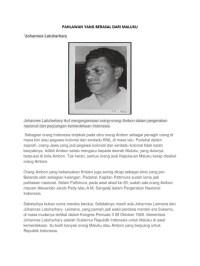 Gambar Pahlawan Maluku Beserta Namanya