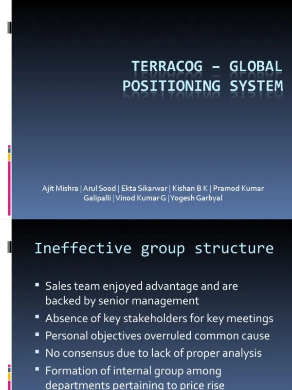 Terracog – Global positioning system