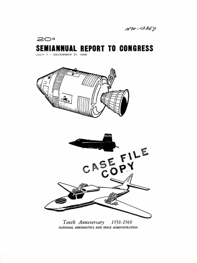 Twentieth semiannual report to congress 1 july 31 december 1968 apollo program project mercury