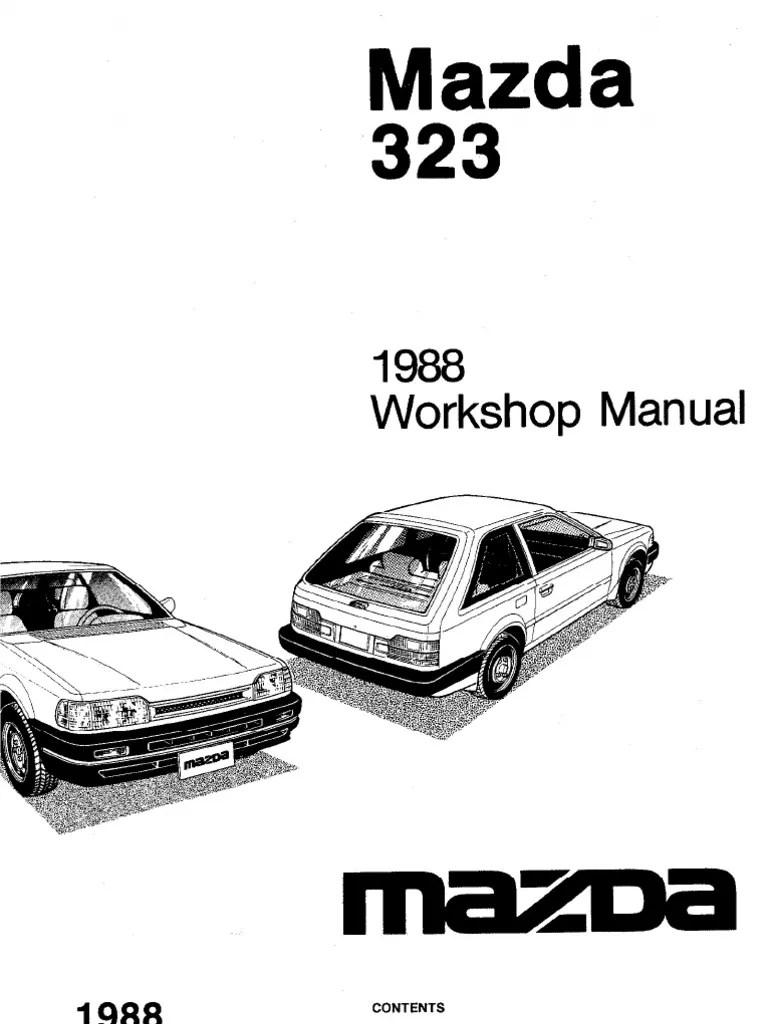Plete 1988 mazda 323 workshop manual belt mechanical