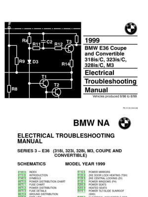 1999 BMW 318isc  323isc  328isc  M3 Electrical Troubleshooting Manual