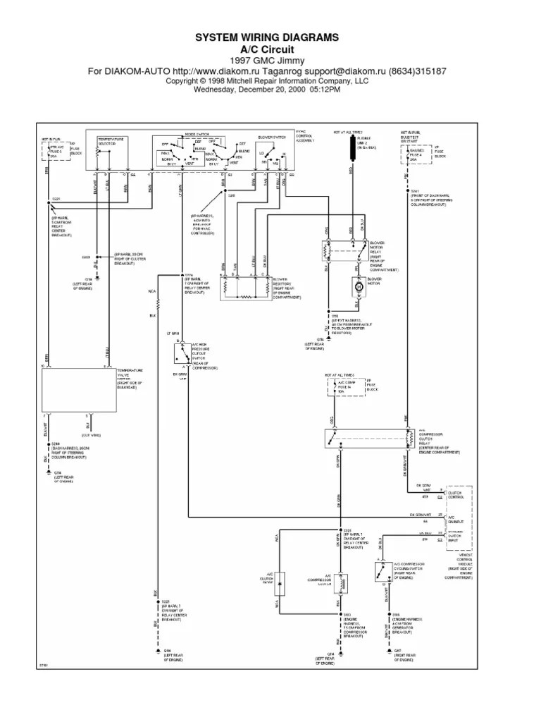 Awesome 1998 gmc wiring diagrams pictures inspiration electrical