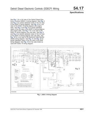 DDEC II and III Wiring Diagrams | Diesel Engine | Truck