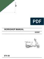 Vespa ET2 ET4 Technical Manual