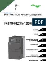 Mitsubishi F700 VFD Instruction ManualApplied | Power