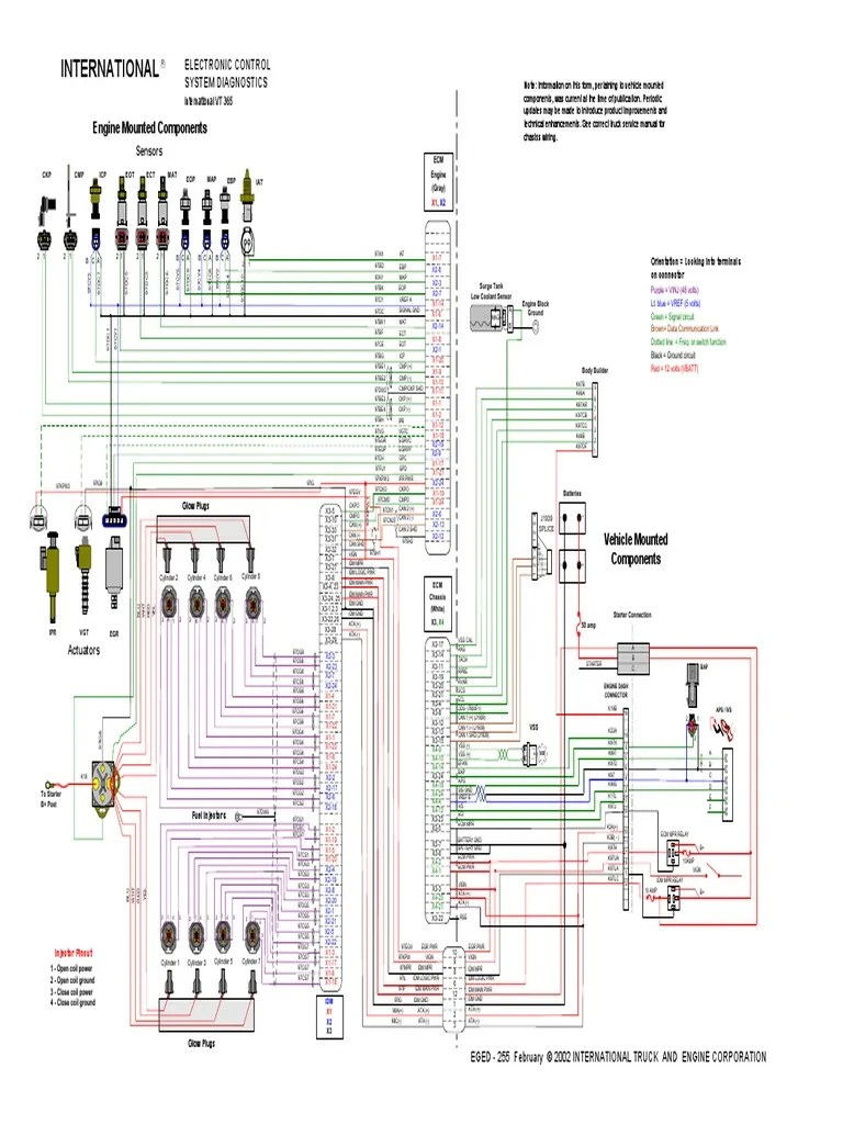 Navistar Vt365 Engine Diagram Electrical Wiring Diagrams Diesel Enthusiast U2022