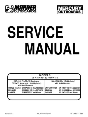 Outboard Manual 70758090100115 | Ignition System | Internal Combustion Engine