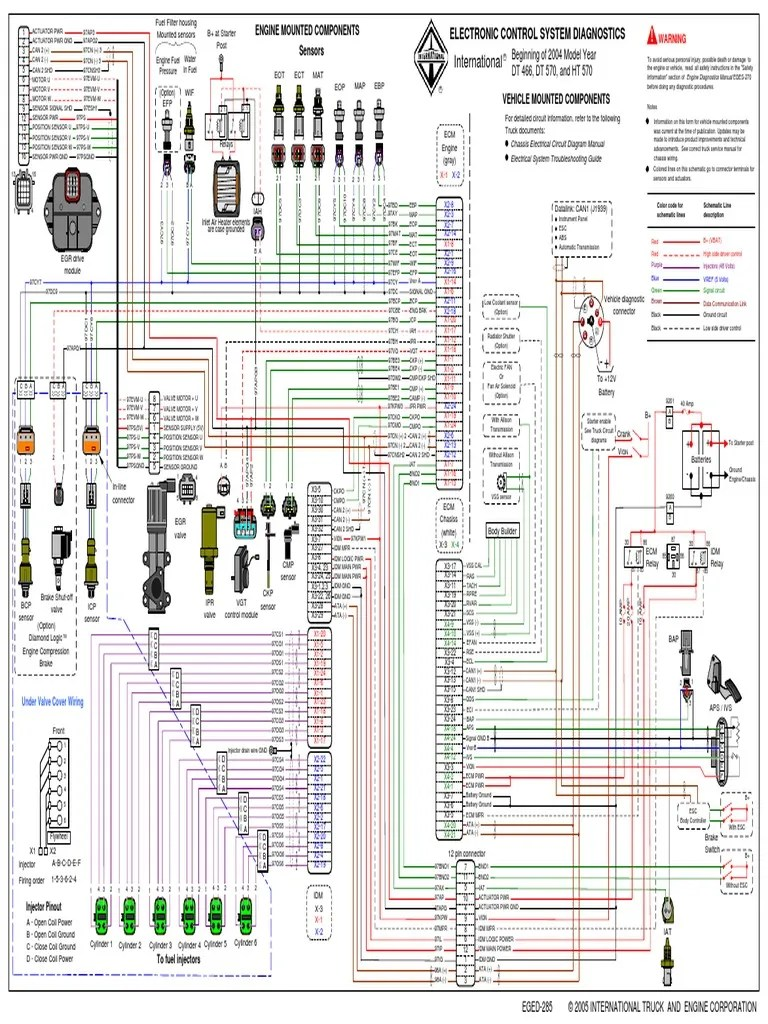 Diagrama Dt466e Egr | Fuel Injection | Switch