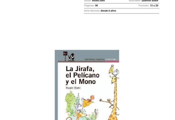 Guia Actividades Jirafa Pelicano Mono
