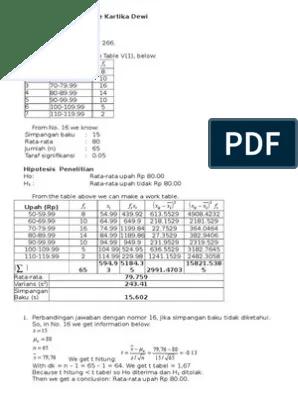 Penulis sudjana buku antik langka. Metodestatistika Sudjana Hal266 Pdf