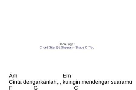 best Chord Dasar Gitar Passenger Let Her Go image collection