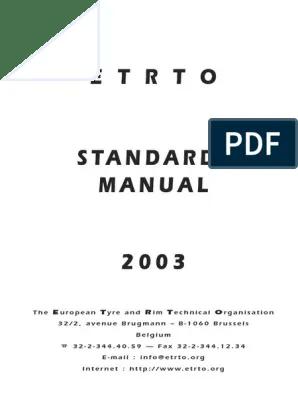 etrto standards manual 2003 pdf