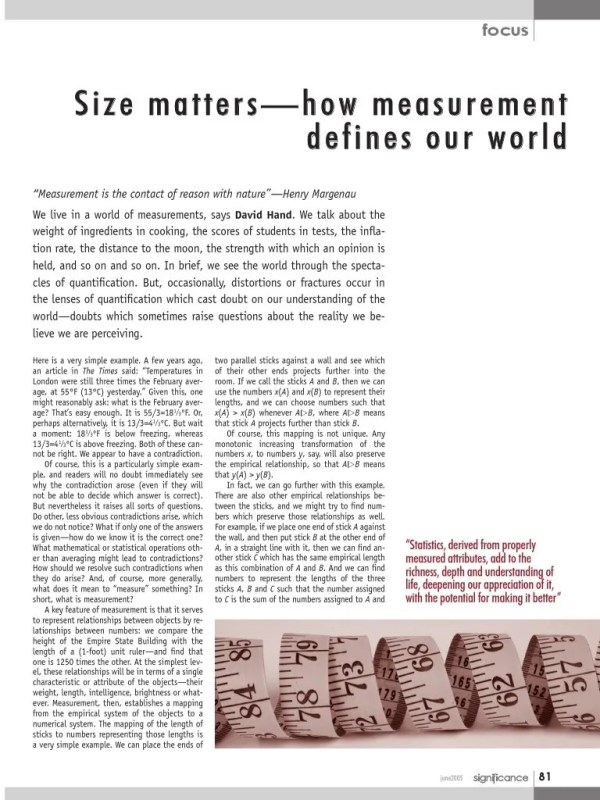 HAND 2005 S Size Matters-How Measurement Defines Our World
