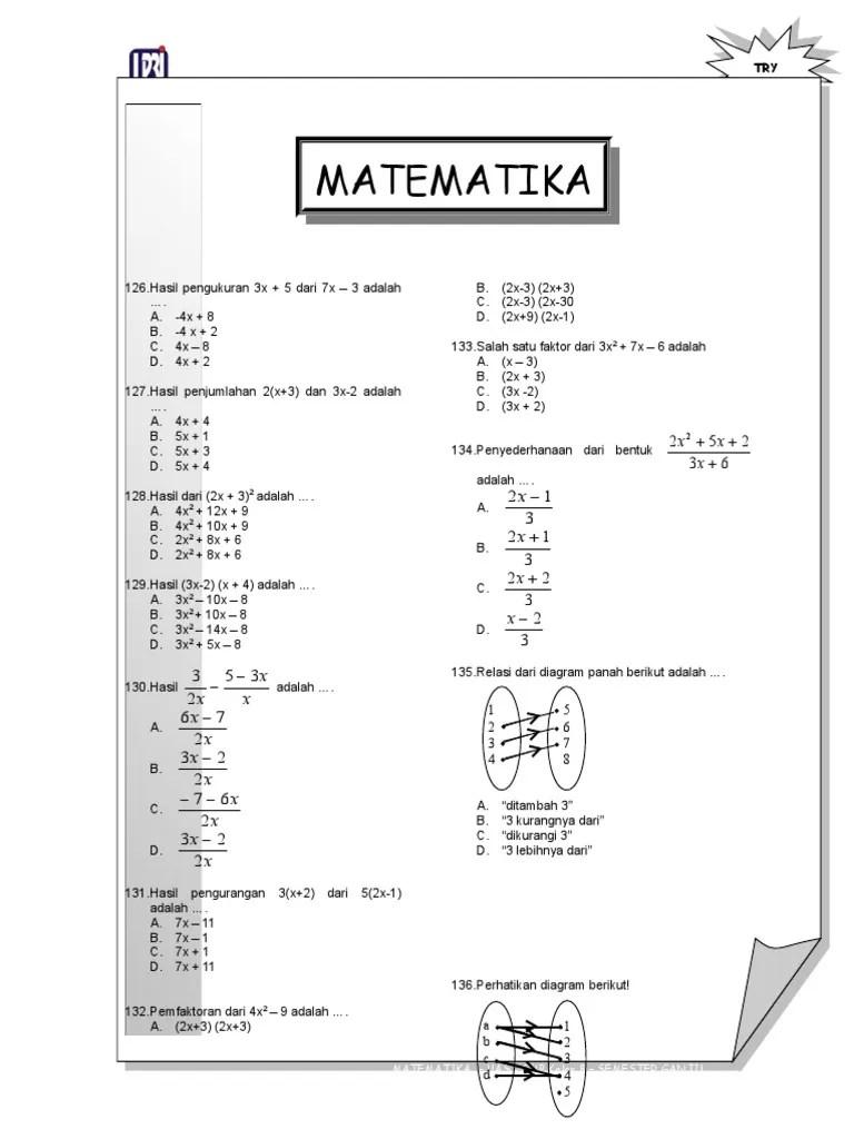 Soal luas dan keliling bangun datar kelas iv sd 1. SOAL-MATEMATIKA-SMP KELAS 8 1.doc