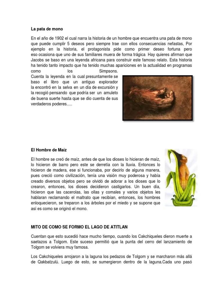 Cialmente atractivos los textos más cortos, construidos a modo de. 3 Mitos de Guatemala   Religión y creencia   Ficción y
