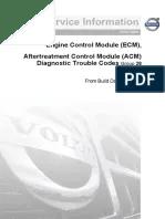 FH4 VOLVO ECM, Diagnostic Trouble Codes | Turbocharger | Fuel Injection