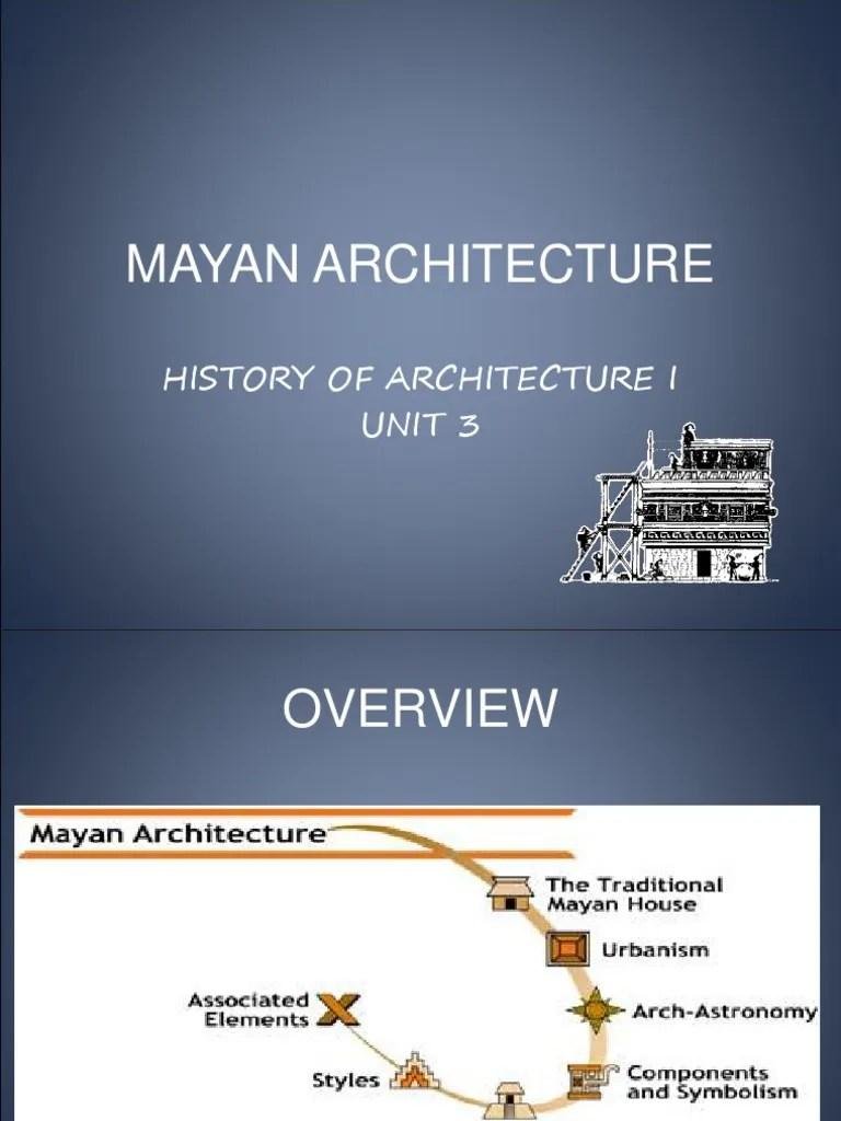 MAYAN ARCHITECTURE unit3.ppt | Maya Civilization | Astronomy