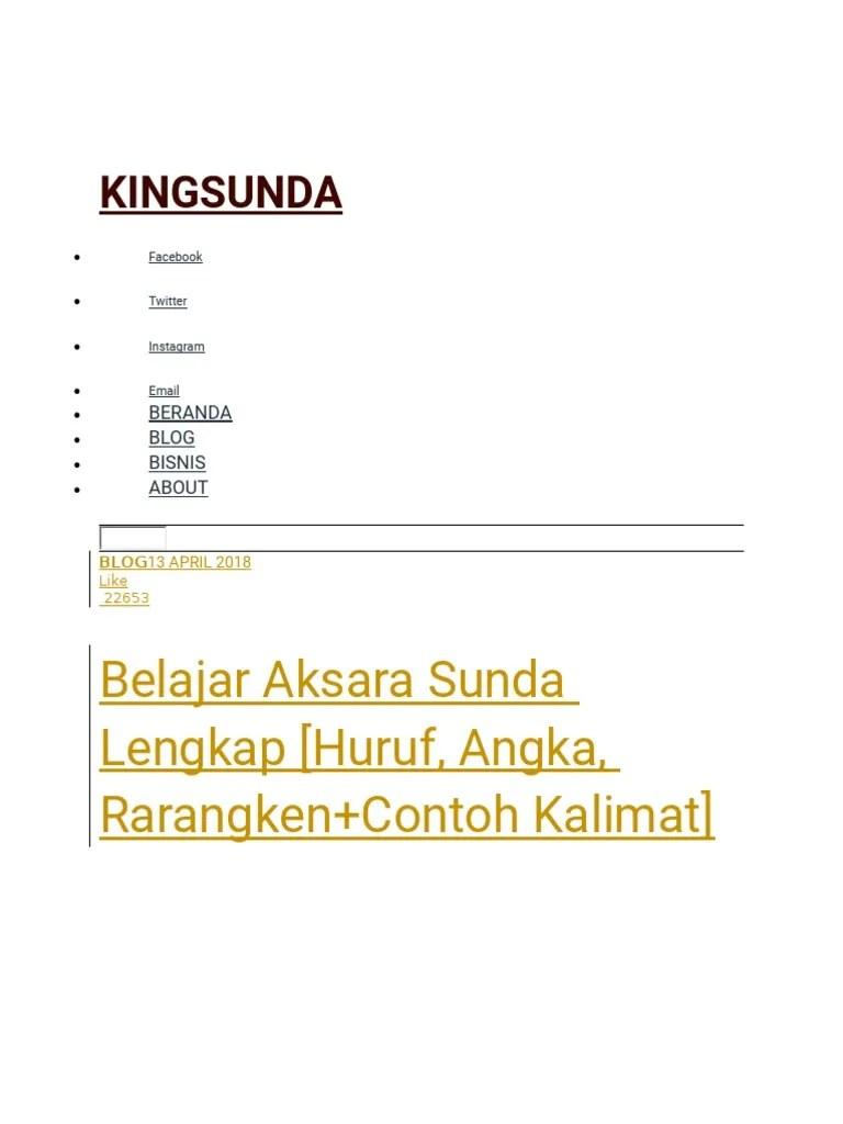 Sistem penulisan aksara sunda baku aksara swara representasi grafis = a p2k.unkris.ac.id. King Sunda