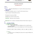 Lesson 5 Uses Divisibility Rules For 2 5 And 10 To Find Coomon Factors Docx Teaching Mathematics Cognition
