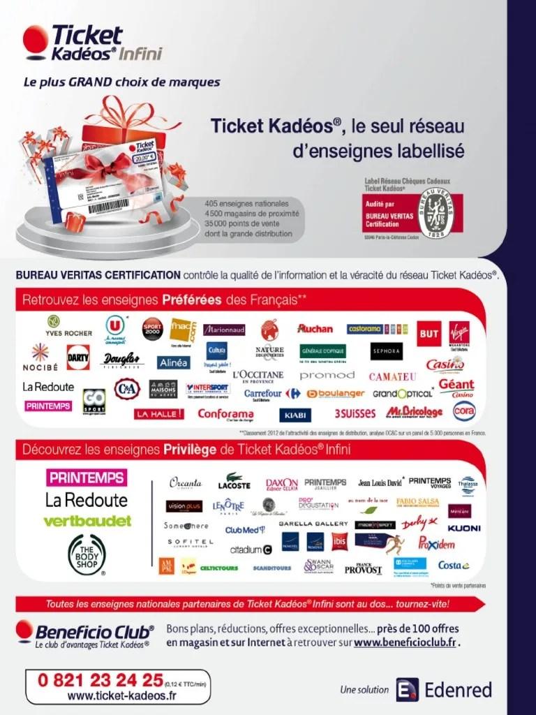 Fiche Produit Ticket Kadeos Infini