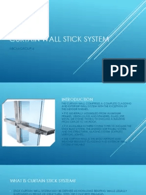 curtain wall stick system wall real