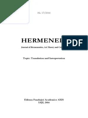 I letti hanno materassi sfondati con reti scomodissime. Hermeneia 17 2016 Small 1 Theology Hermeneutics