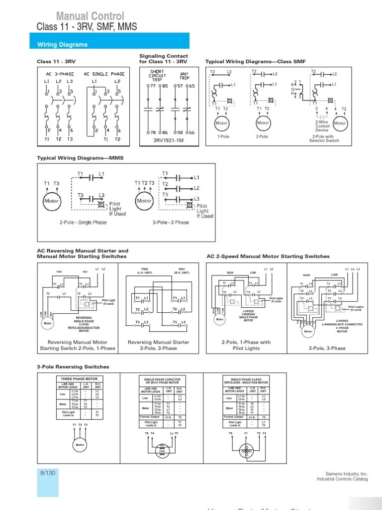 TYPICAL WIRING DIAGRAMS SIEMENS