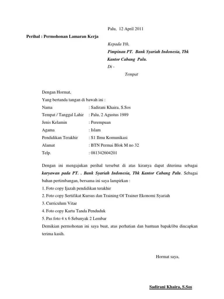 Kepala bagian personalia the blitz jl. Cara Membuat Surat Lamaran Kerja Dan Daftar Riwayat Hidup ...