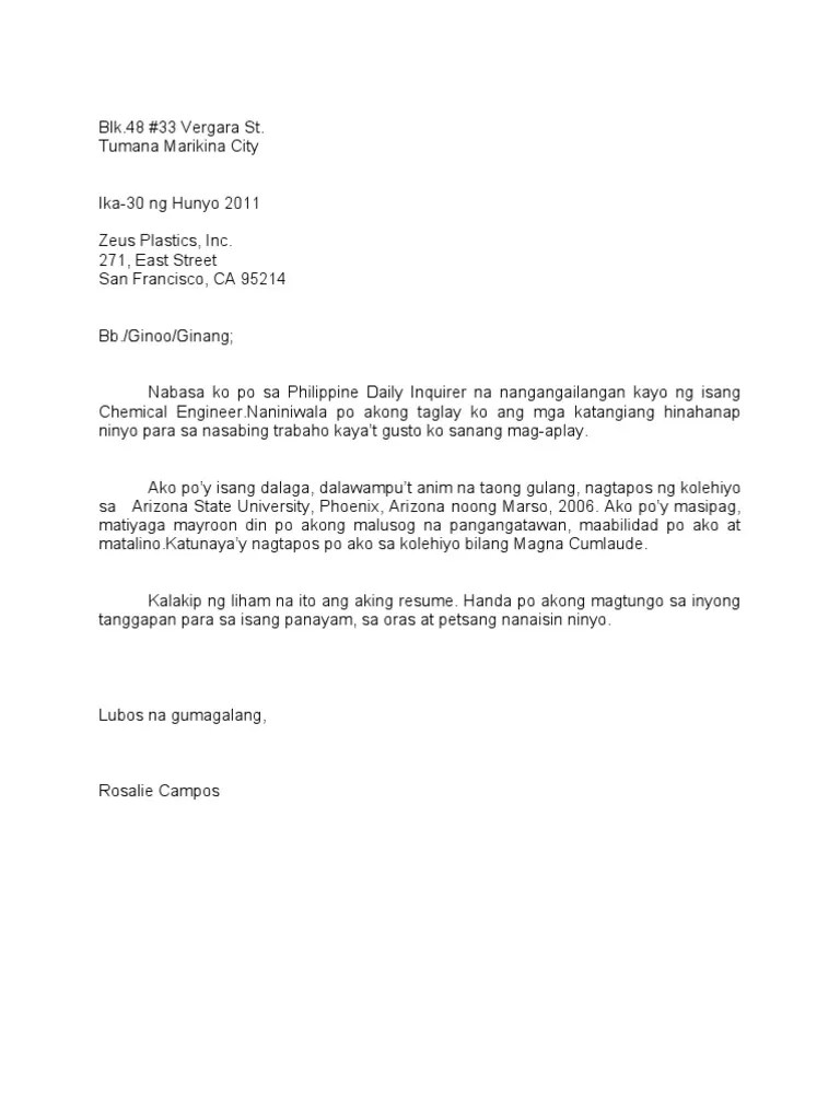 Comfortable Halimbawa Ng Resume Filipino Images Example Resume