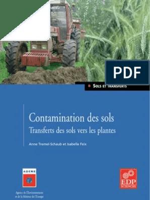 contamination des sols metaux sol