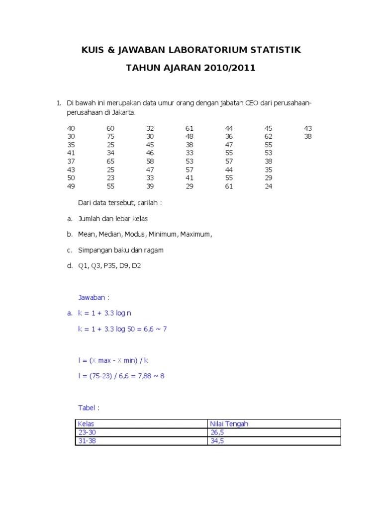 13/04/2013· by syaharuddin al musthafa on 4/13/2013 11:21:00 am in kumpulan kunci jawaban soal buku metode statistika karangan sudjana. Contoh Soal Dan Jawaban Uji Chi Square Dengan Spss Kemendikbud