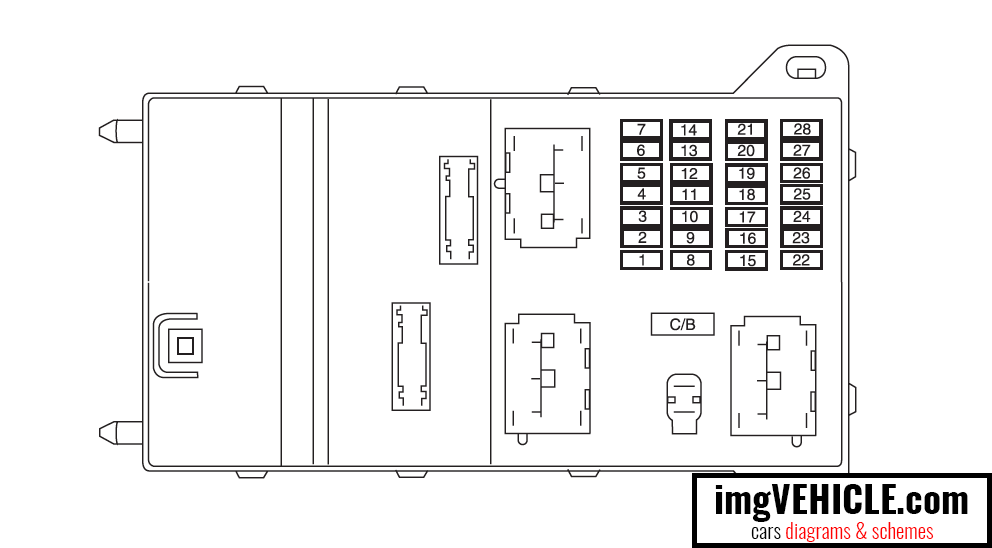 2010 Ford Fusion Interior Fuse Box Diagram