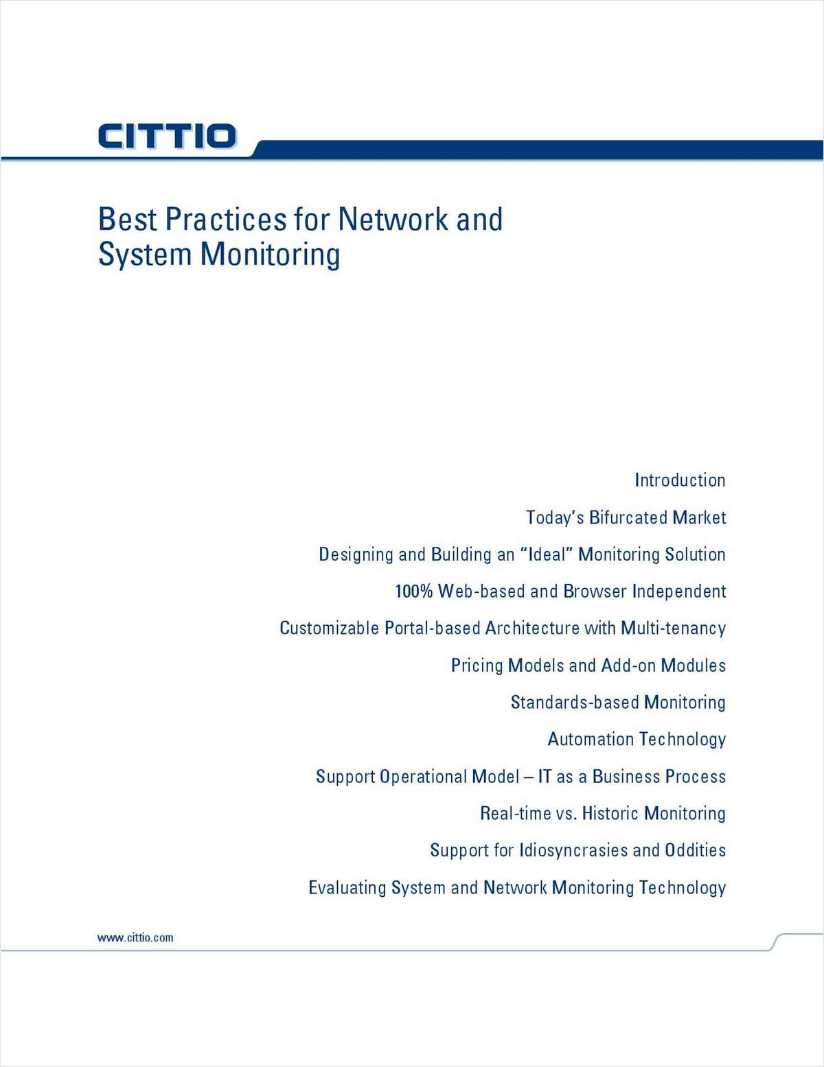 Best Practices For Network And System Monitoring Free
