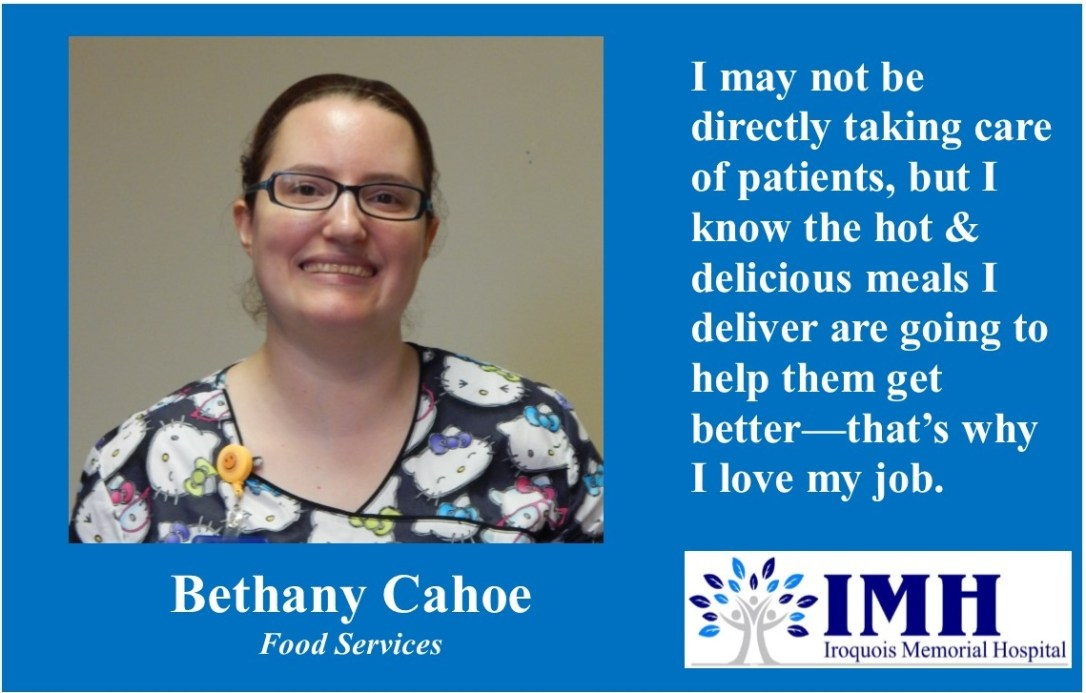 10-06-2017 Bethany Cahoe, Food Services
