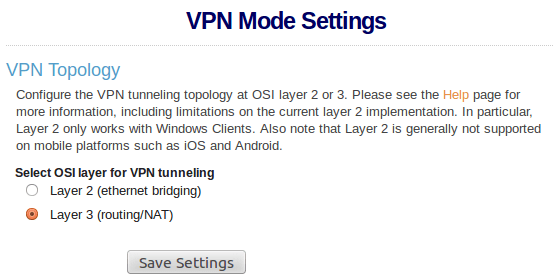 VPN Mode Settings