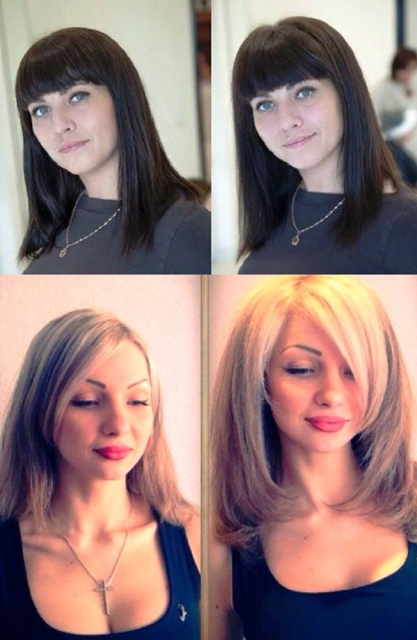 Легкая химия: фото до и после, с челкой, без челки — Салон ...