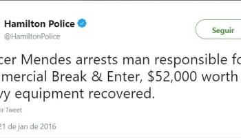 Ex-policial no Brasil, hoje Policial no Canadá