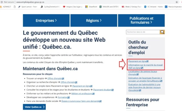 Pesquisando sua profissão e emprego no Quebec, Canada