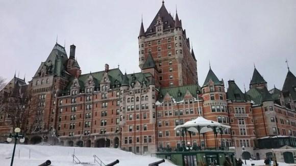 Cartão Postal da Cidade de Quebec no Canadá
