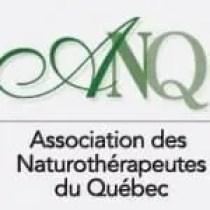Logo da Associação de Naturoterapeutas do Quebec, Canadá.