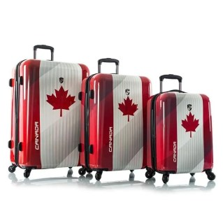 Conjunto de malas com o emblema do Canadá