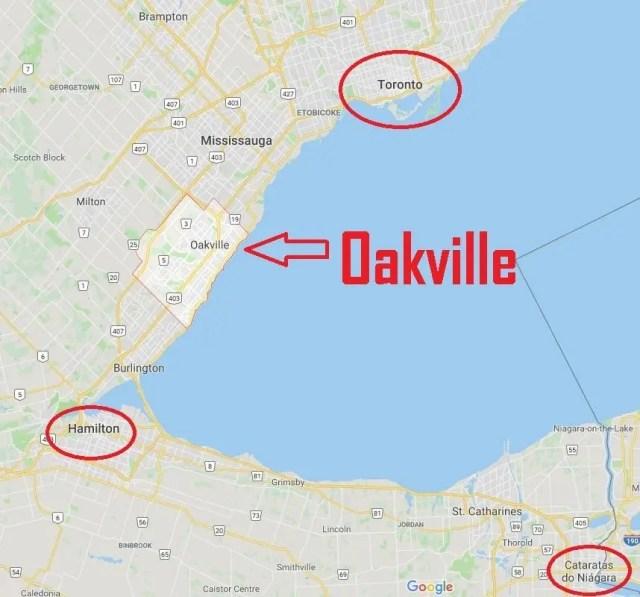 Oakville, Ontario no Canadá. Imagem no post do ranking das melhores cidades para se viver no Canadá