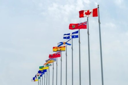 Bandeiras das províncias do Canadá.
